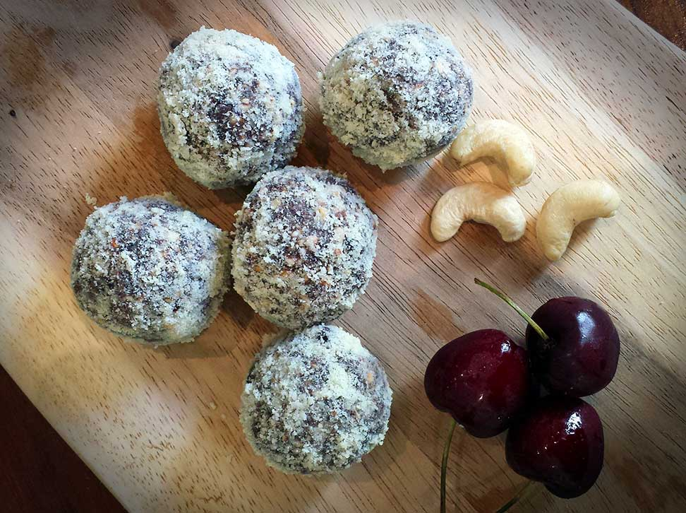 Cashew Cherry Bliss Balls